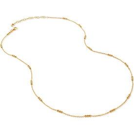 モニカ ヴィナダー MONICA VINADER レディース ネックレス ジュエリー・アクセサリー【Triple Beaded Chain Necklace】Yellow Gold