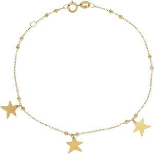 ボニー レヴィ BONY LEVY レディース ブレスレット チャーム ジュエリー・アクセサリー【14K Gold Star Charm Bracelet】Yellow Gold
