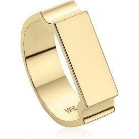 モニカ ヴィナダー MONICA VINADER レディース 指輪・リング ジュエリー・アクセサリー【Engravable Wide Signature Ring】Dnu/Yellow Gold