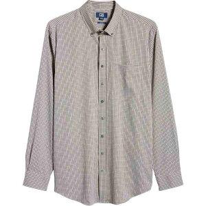 カッター&バック CUTTER & BUCK メンズ シャツ トップス【Versatech Multi Check Classic Fit Button-Up Performance Shirt】Black