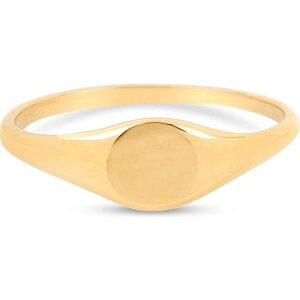 ストーンアンドストランド STONE AND STRAND レディース 指輪・リング ピンキーリング シグネットリング ジュエリー・アクセサリー【Mini Pinky Signet Ring】Yellow Gold
