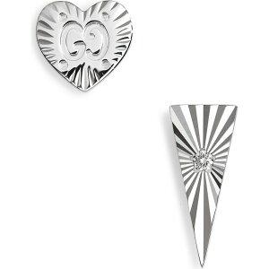 グッチ GUCCI レディース イヤリング・ピアス スタッドピアス ジュエリー・アクセサリー【Icon Mismatched Diamond Stud Earrings】18k White Gold