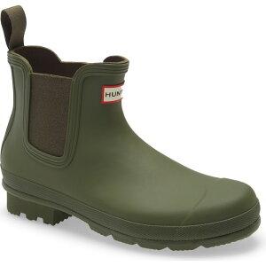 ハンター HUNTER メンズ レインシューズ・長靴 チェルシーブーツ シューズ・靴【Original Waterproof Chelsea Rain Boot】Ismarken Olive