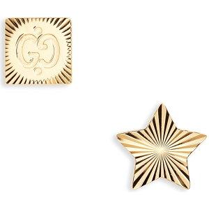 グッチ GUCCI レディース イヤリング・ピアス スタッドピアス ジュエリー・アクセサリー【Icon Mismatched Stud Earrings】18k Yellow Gold