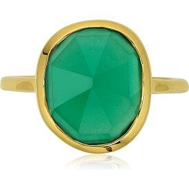 モニカ ヴィナダー MONICA VINADER レディース 指輪・リング ジュエリー・アクセサリー【Siren Semiprecious Stone Ring】Green Onyx/Yellow Gold