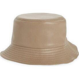 ロエベ LOEWE レディース ハット バケットハット 帽子【Logo Zip Leather Bucket Hat】Sand