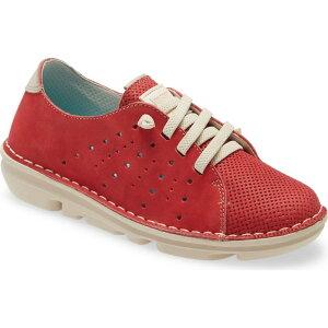 オンフット ON FOOT レディース スニーカー レースアップ シューズ・靴【Lace-Up Sneaker】Rojo