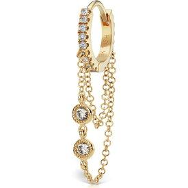 マリアタシュ MARIA TASH レディース イヤリング・ピアス ジュエリー・アクセサリー【Double Chain Diamond Eternity Clicker】Yellow Gold