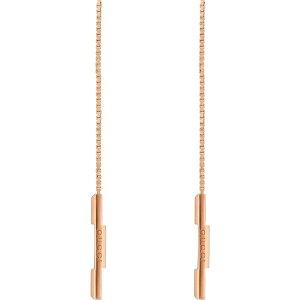 グッチ GUCCI レディース イヤリング・ピアス アメリカンピアス ジュエリー・アクセサリー【Link to Love Threader Earrings】18k Yellow Gold