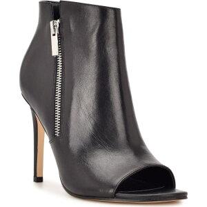 ナインウエスト NINE WEST レディース パンプス シューズ・靴【I Zip Peep Toe Pump】Black Leather