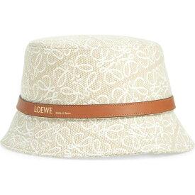 ロエベ LOEWE レディース ハット バケットハット 帽子【Anagram Jacquard Bucket Hat】Anthracite/Black