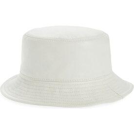 ロエベ LOEWE レディース ハット バケットハット 帽子【Logo Zip Leather Bucket Hat】Soft White