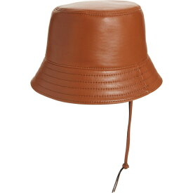 ロエベ LOEWE レディース ハット バケットハット 帽子【Anagram Logo Patch Leather Bucket Hat】Tan