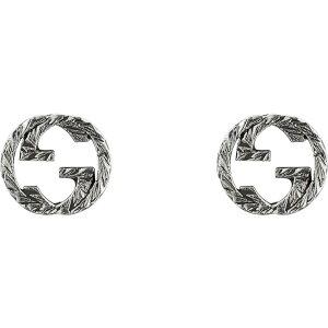グッチ GUCCI レディース イヤリング・ピアス スタッドピアス ジュエリー・アクセサリー【Interlocking G Silver Stud Earrings】Silver