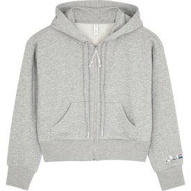 アダム セルマン Adam Selman Sport レディース スウェット・トレーナー トップス【Grey Cropped Cotton-Blend Sweatshirt】Grey