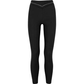 アダム セルマン Adam Selman Sport レディース スパッツ・レギンス インナー・下着【Black Studded Stretch-Jersey Leggings】Black