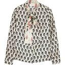 ラ プレスティック ウィストン La Prestic Ouiston レディース ブラウス・シャツ トップス【Cipriana Printed Silk Bl…