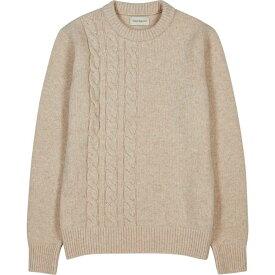 オリバー スペンサー Oliver Spencer メンズ ニット・セーター トップス【ecru cable-knit wool jumper】Natural