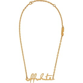 オフホワイト Off-White レディース ネックレス ジュエリー・アクセサリー【gold-tone logo necklace】Gold