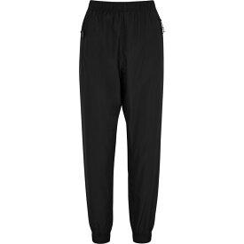 アダム セルマン Adam Selman Sport レディース スウェット・ジャージ レースアップ ボトムス・パンツ【Black Lace-Up Shell Sweatpants】Black