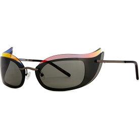 クレージュ COURREGES レディース メガネ・サングラス キャットアイ【Gunmetal wraparound cat-eye sunglasses】Grey