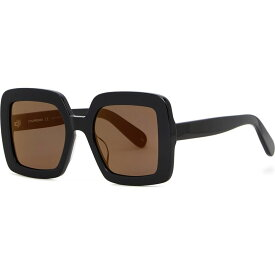 クレージュ COURREGES レディース メガネ・サングラス 【Black oversized sunglasses】Black