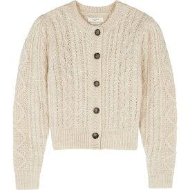 イザベル マラン Isabel Marant Etoile レディース カーディガン トップス【Rianne ecru cable-knit wool cardigan】Natural
