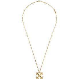 オフホワイト Off-White メンズ ネックレス ジュエリー・アクセサリー【Arrows Gold-Tone Necklace】Gold