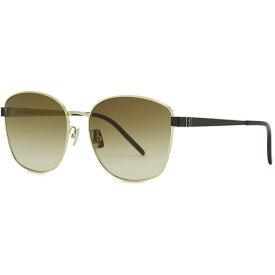 イヴ サンローラン Saint Laurent レディース メガネ・サングラス オーバル【Slm67 Gold-Tone Oval-Frame Sunglasses】Gold