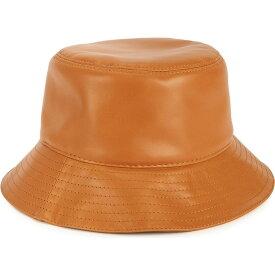 ロエベ Loewe レディース ハット バケットハット 帽子【Brown logo leather bucket hat】Brown