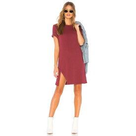 ミンクピンク MINKPINK レディース ワンピース・ドレス ワンピース【Textured Tee Dress】Burgundy