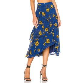 ハウスオブハーロウ1960 House of Harlow 1960 レディース スカート ひざ丈スカート【X REVOLVE Jacinda Midi Skirt】Blue Daisy Floral