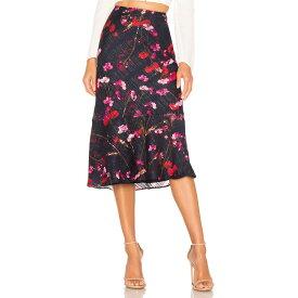 ハウスオブハーロウ1960 House of Harlow 1960 レディース スカート ひざ丈スカート【x REVOLVE Portia Midi Skirt】Navy Floral