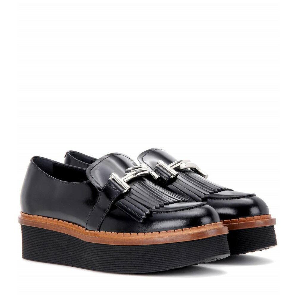 トッズ Tod's レディース シューズ・靴 ローファー【Double T platform leather loafers】