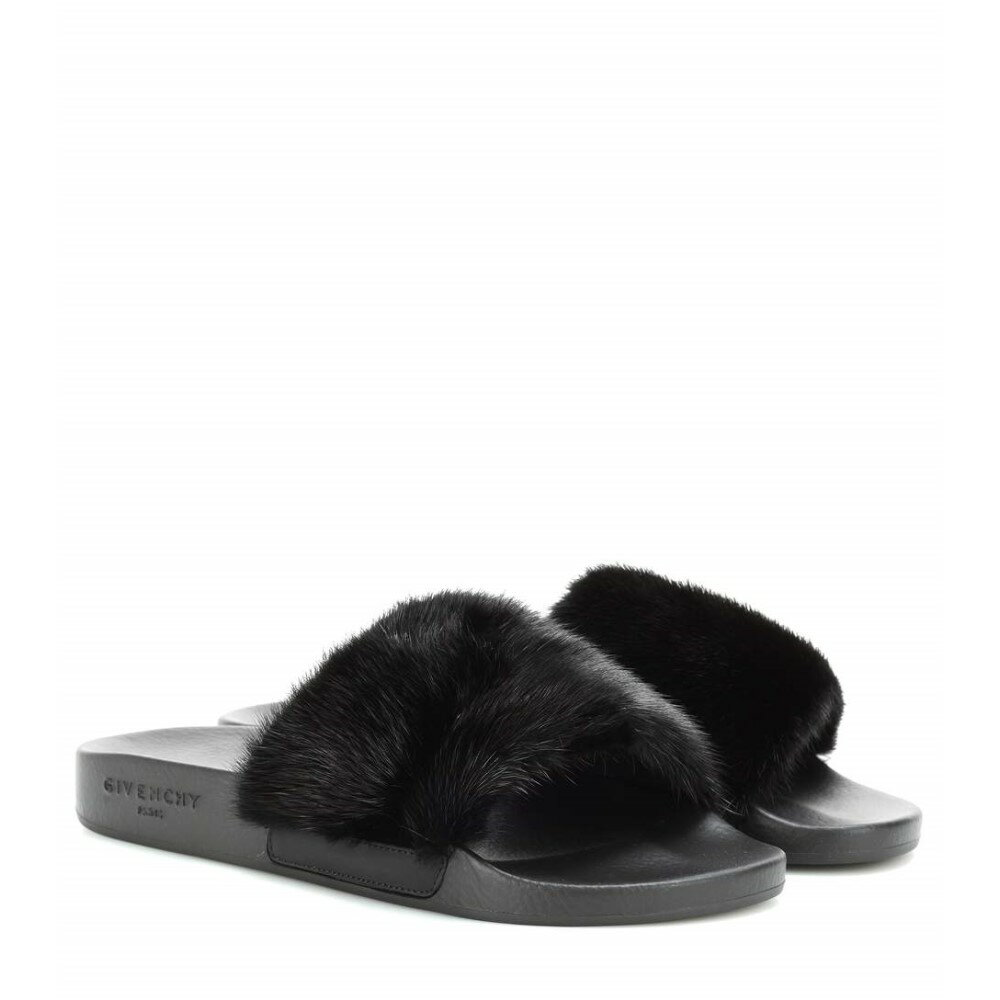 ジバンシー Givenchy レディース シューズ・靴 サンダル【Fur slip-on sandals】