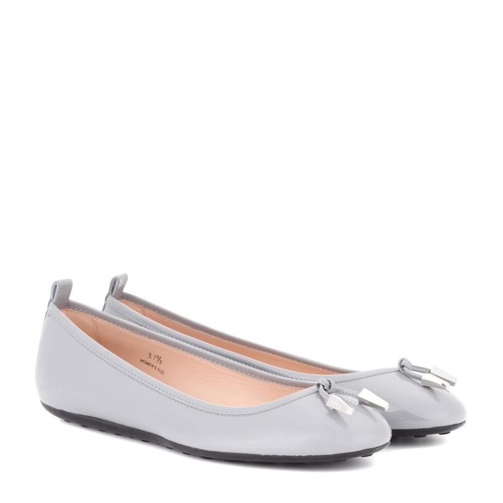 トッズ Tod's レディース シューズ・靴 フラット【Laccetto patent leather ballerinas】