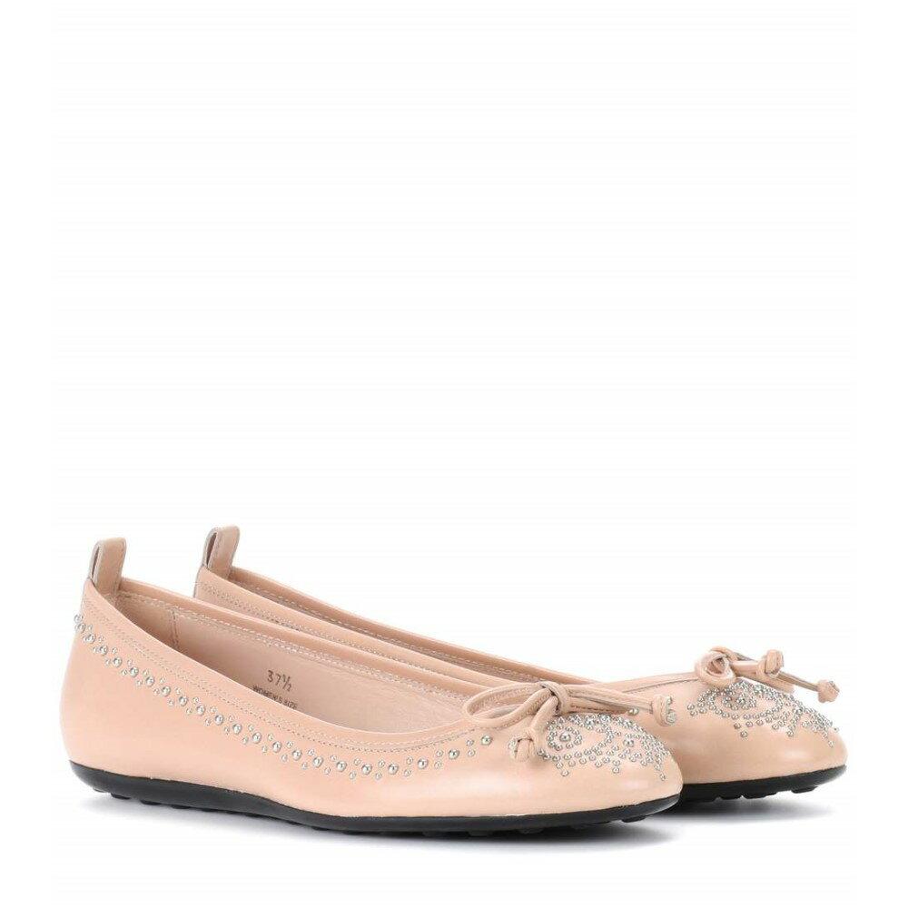 トッズ Tod's レディース シューズ・靴 フラット【Studded leather ballerinas】