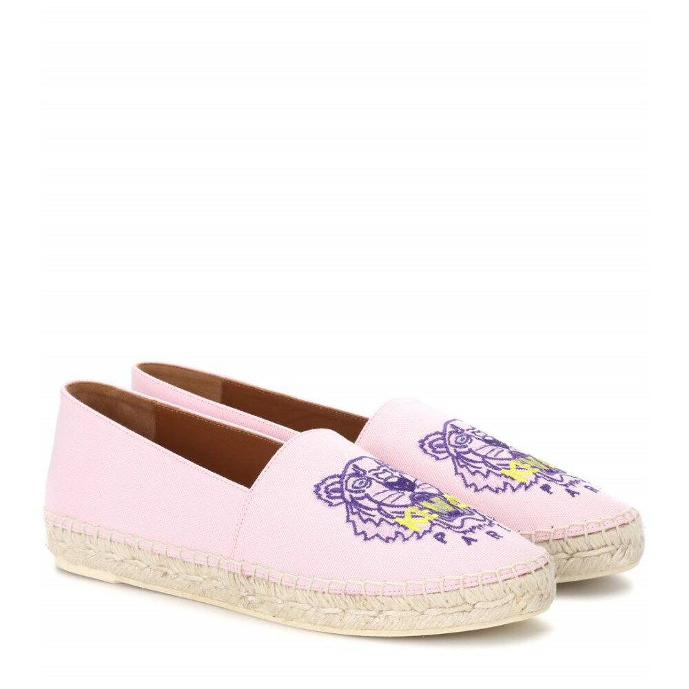 ケンゾー レディース シューズ・靴 エスパドリーユ【Embroidered espadrilles】Flamingo Pink