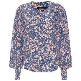 イザベル マラン レディース トップス ブラウス・シャツ【Berny printed silk-blend blouse】Blue