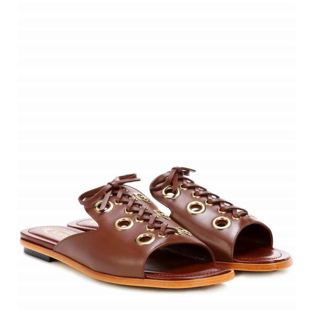 トッズ レディース シューズ・靴 サンダル・ミュール【Leather sandals】Brown