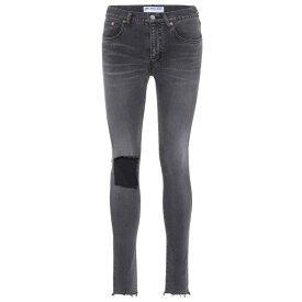 バレンシアガ レディース ボトムス・パンツ ジーンズ・デニム【Ripped skinny jeans】Vintage Grey