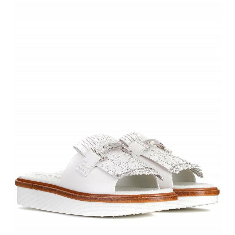 トッズ レディース シューズ・靴 サンダル・ミュール【Leather slides】White