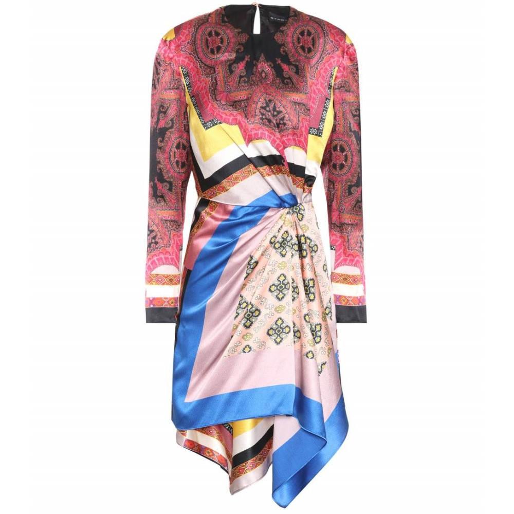 エトロ レディース ワンピース・ドレス ワンピース【Printed silk dress】Multicolor