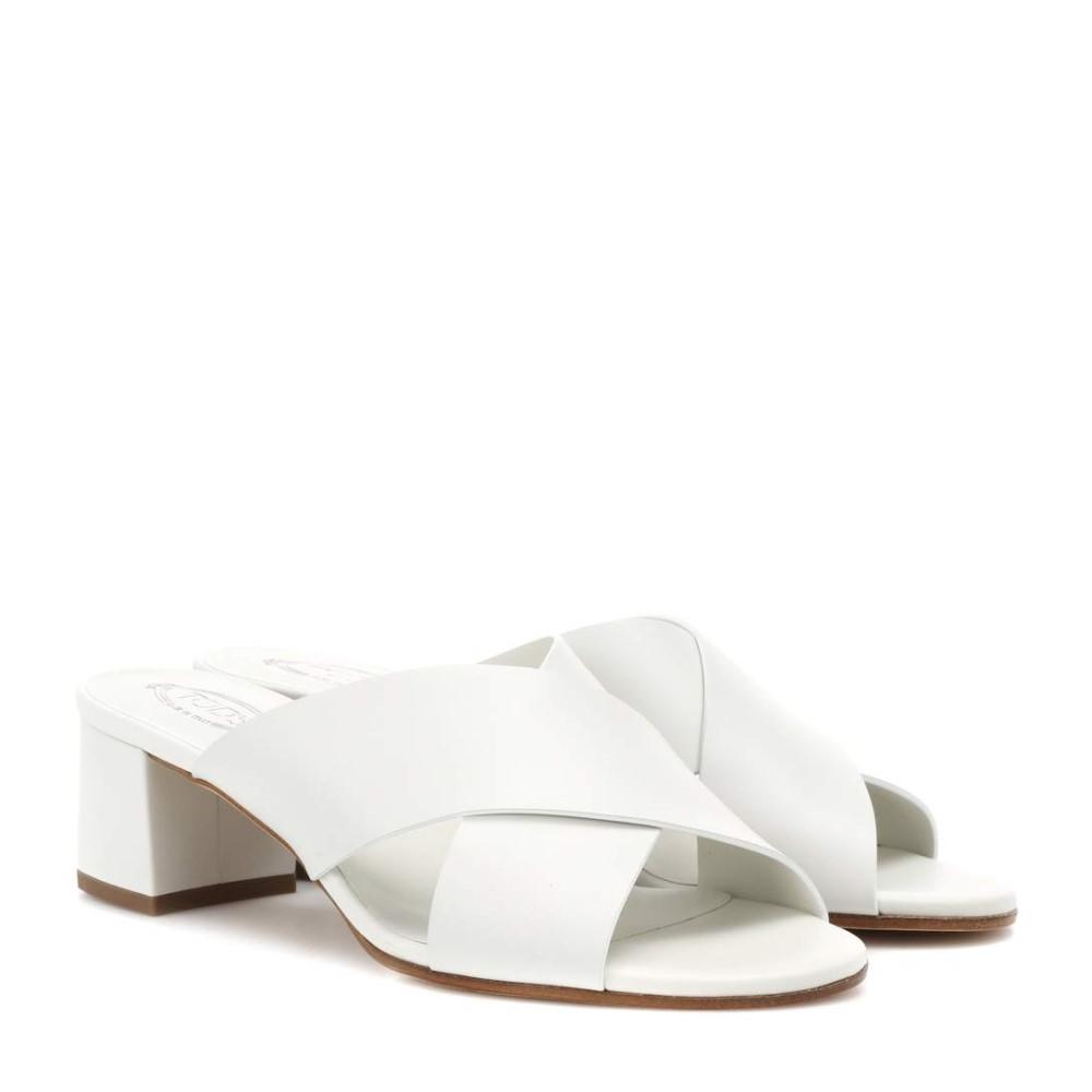 トッズ レディース シューズ・靴 サンダル・ミュール【Leather sandals】Off-White
