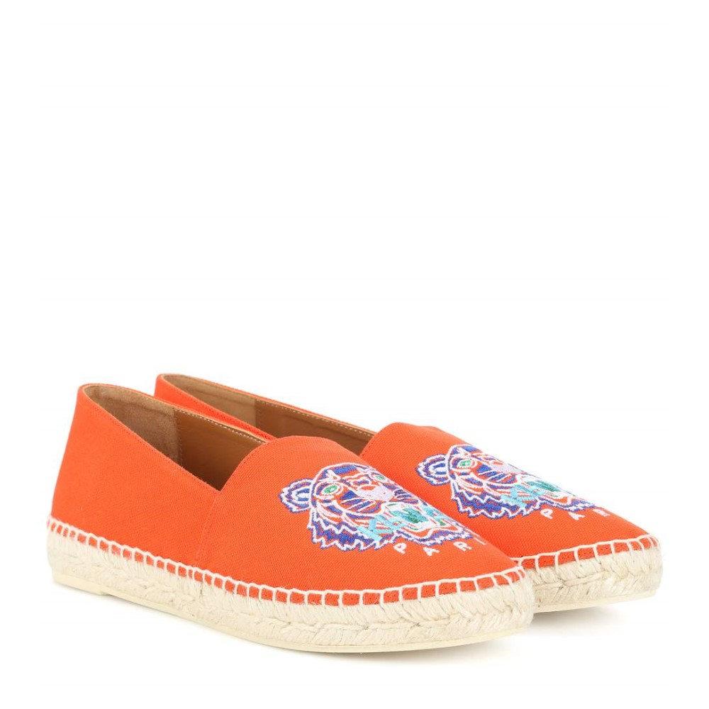 ケンゾー レディース シューズ・靴 エスパドリーユ【Embroidered espadrilles】Medium Red