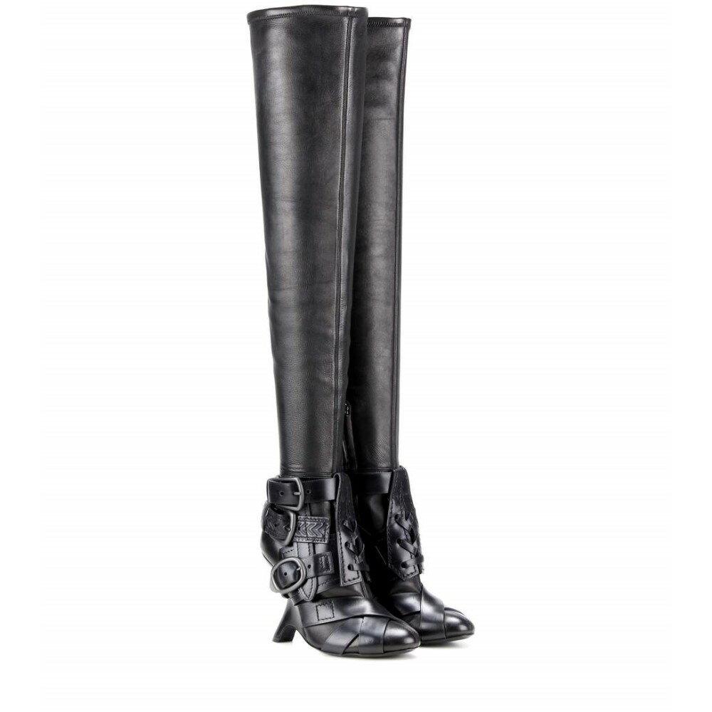 トム フォード レディース シューズ・靴 ブーツ【Thigh-high Buckle boots】Black/Black