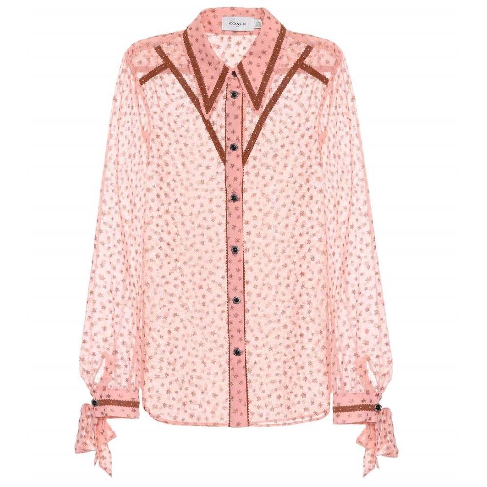 コーチ レディース トップス ブラウス・シャツ【Printed georgette blouse】Pink