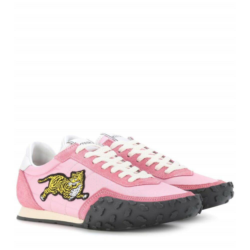 ケンゾー レディース シューズ・靴 スニーカー【MOVE suede-trimmed sneakers】Flamingo Pink