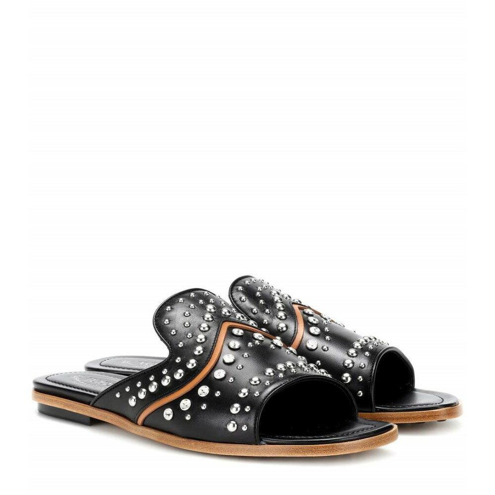 トッズ レディース シューズ・靴 サンダル・ミュール【Embellished leather sandals】Black