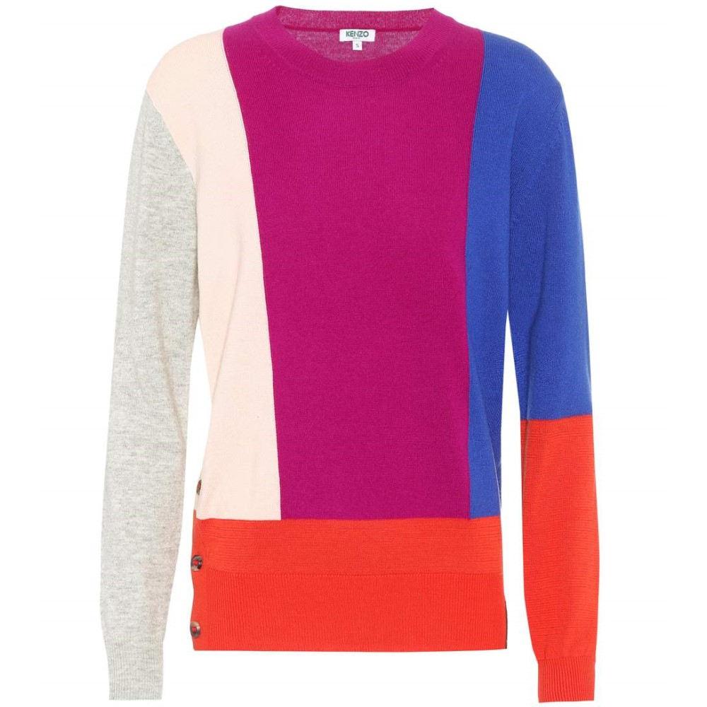 ケンゾー レディース トップス ニット・セーター【Cotton, wool and cashmere sweater】Deep Fuchsia